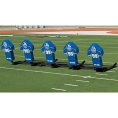 Football Blocking Sled with Royal Cone Pads  Varsity MSeries  7 Man *** For more information, visit image link.