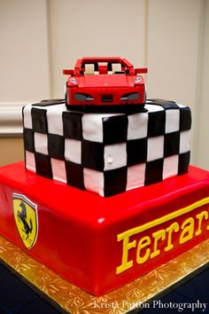 indian wedding grooms cake ferrari theme http://maharaniweddings.com/gallery/photo/4556