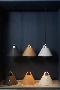 leather pendant lights