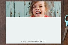 Close-Up Children's Personalized Stationery by Up Up Creative for Minted #photocard #stationery