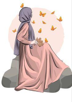 Cartoon Girl Images, Girl Cartoon, Cartoon Art, Cute Muslim Couples, Muslim Girls, Hijab Drawing, Islamic Cartoon, Anime Muslim, Hijab Cartoon