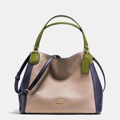 Coach Edie Shoulder Bag 28 In Colorblock Leather Handbag Accessories 6c7a197e196b5
