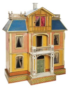 Theriault's Antique Doll Auctions, nice style and design. Also very colorful.  .....Rick Maccione-Dollhouse Builder www.dollhousemansions.com