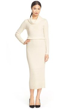 Alice + Olivia 'Hailee' Cowl Neck Sweater Dress available at #Nordstrom