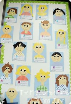 """Deanna Jump Idea for Classroom """"Commitment""""  Each student makes a self-portrait and signs the commitment"""