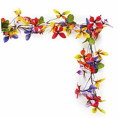 6' Butterfly Garland at Big Lots.