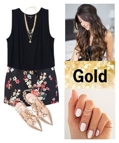 """""""Gold vy Britt Nicole"""" by anadoribeljimenez ❤ liked on Polyvore featuring Valentino and Vince Camuto"""