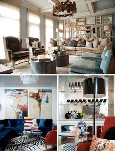 Top picture/palette. Taupe, pale blue and sand color. I would use the taupe for the sofa and the sand color somewhere else