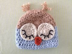 Sleeping Owl Hat - Crochet Infant Owl hat for Boy or Girl, $21...what a precious gift for a new little one.  {Call Me Craftie via Etsy}