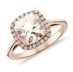 Blue Nile rose gold engagement ring
