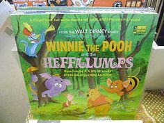 Walt Disney Winnie the Pooh & the Heffalumps LP VG+ Disneyland Records Booklet