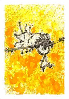 """Mr. Big Stuff Dreams"" by Tom Everhart. 46″ x 32.5″ Giclee/Screenprint."