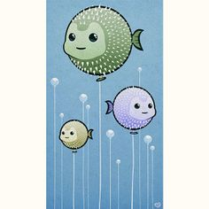 Puffer Fish Balloons by octopustreehouse