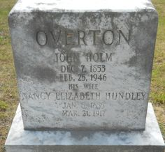 Nancy Elizabeth Hundley Overton (1855 - 1917) - Find A Grave Photos