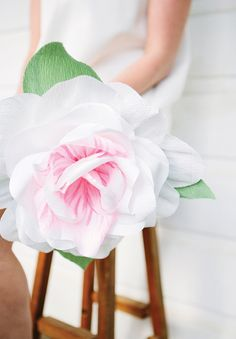 Crepe paper flowers.... wow @bjfitzgerald these are amazing! Do you think we could make them??
