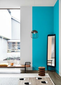 4 Color Trends 2017 Dulux Australia Sentience Chroma Construct Entwine - pinupi love to share Room Colors, Wall Colors, House Colors, Dulux Paint Colours Blue, Wall Design, House Design, Bright Paintings, Interior Decorating, Interior Design