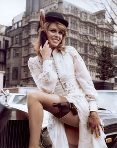 "bitterquill: "" Joanna Lumley aka Purdey in The New Avengers "" Purdey I am glad I'm not the only one Tumbling about The New Avengers. All this Avengers hype is making me nostalgic. Emma Peel, The Avengers, Srinagar, Joanna Lumley Young, British Actresses, Actors & Actresses, Nylons, James Bond Girls, Brian Duffy"