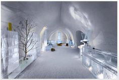 Ice Hotel, Finland. (There are some in Northern Norway too.)