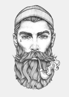 Sailor art print mehr tesla tatu art, art drawings e art prints. Art And Illustration, Hipster Vintage, Fantasy Portraits, Tatoo Art, Art Inspo, Line Art, Amazing Art, Art Reference, Art Drawings