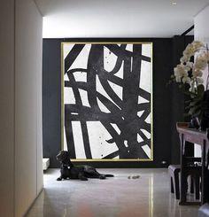 Oversized abstract art