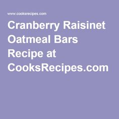 ... more cranberry raisinet raisinet oatmeal oat bars oatmeal bars covered