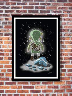 Legend of Zelda Poster A3 Print Wind Waker by WonderBoarWorkshop
