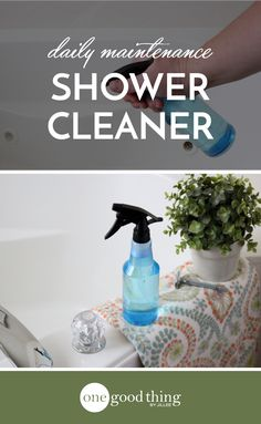 Learn how to make a simple shower spray that will help keep your shower cleaner, longer. It's as easy as spraying it in your shower after you use it!