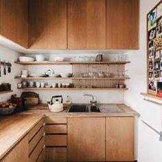 Boho Kitchen, Kitchen Dining, Kitchen Decor, Small Living, Modern Living, Cozy House, Kitchen Interior, Layout, Home Kitchens
