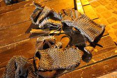 guanti di cotta di maglia