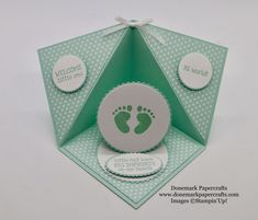 First steps – Donemark PapercraftsI saw this card shape on pottles craft forum and just had to have ago sorry I have looked for the post again but can't find it and can't remember how posted it.Independent Stampin up! Fun Fold Cards, Pop Up Cards, Folded Cards, Kids Cards, Baby Cards, Triangles, Origami, Birthday Box, Happy Birthday