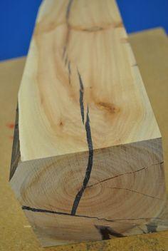 how to repair split wood