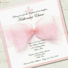 Cute girly invitations