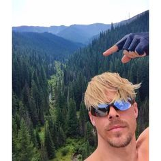 Just finished a 15 mile bike ride on an old railroad track through the mountains. 9,000 ft tunnels, several bridges and unbelievable views!! Like this one I'm pointing at here #nature #beauty #reality