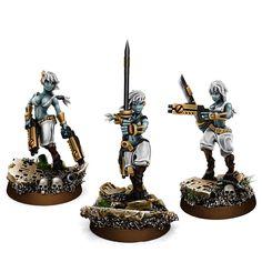 WE: Greater Good Tau Widows of Vengeance Tau Warhammer, Warhammer 40k Figures, Warhammer Models, Warhammer 40k Miniatures, Warhammer Fantasy, Empire Tau, Fire Warrior, Sci Fi Miniatures, Dark Eldar