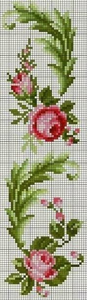 Cross Stitch Rose, Cross Stitch Borders, Cross Stitch Flowers, Cross Stitch Designs, Cross Stitching, Cross Stitch Embroidery, Cross Stitch Patterns, Pixel Art Templates, Chart Design