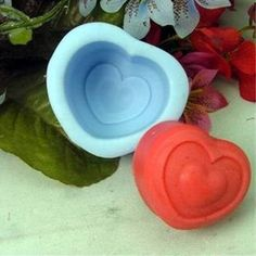 Red Heart Shape Silicone Mould Handmade Soap Mold Biscuit Mold | WholePort.com