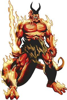 Surtur o fogo, deus dos jotuns do reino de fogo