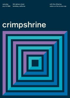 crimpshrine at gilman street, 1988 - swissted by mike joyce Vintage Graphic Design, Graphic Design Illustration, Graphic Design Inspiration, Web Design, Book Design, Design Layouts, Design Ideas, International Typographic Style, International Style