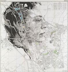 "Ed Fairburn - ""Oxford"" Fine Art Photography, Street Photography, Dance Photography, Iphone Photography, Photography Tips, Ed Fairburn, Map Sketch, English Artists, Vintage Maps"