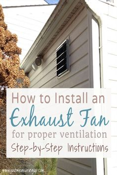 Looking for a garage ventilation system? With this easy tutorial, learn how to install an exhaust fan vent in your garage for proper workshop ventilation. Window Ventilation, Kitchen Ventilation, Ventilation System, Garage Kits, Diy Garage, Garage Storage, Garage Ideas, Garage Walls, Garage House