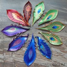 peacock-feather-barrettes.jpg (650×650):