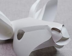 """Check out new work on my @Behance portfolio: """"Curved Fold Origami - Goat"""" http://be.net/gallery/40191979/Curved-Fold-Origami-Goat"""