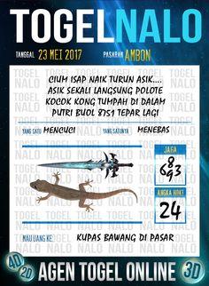 Paito JP 6D Togel Wap Online TogelNalo Ambon 23 Mei 2017