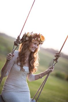 rustic floral crown / Joanna Tano Photography