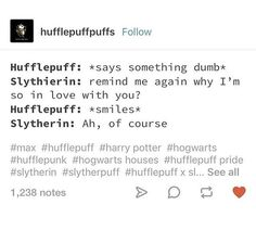 #hufflepuffs #pointing #specific #story #just #cute #this #that #dumb #all #not #are #one #out #on(just pointing it out, Hufflepuffs are not all dumb, just that this specific one on this cute story is)