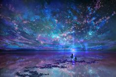 ArtStation - Ocean, Stars, Sky, and You, (王晖) Melissa Hui Wang