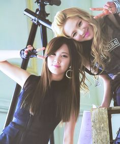 """SNSD Seohyun and Hyoyeon on the set of their """"All My Love Is for You"""" Japanese MV"""