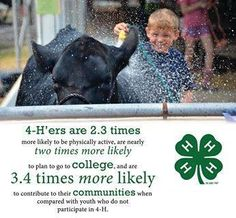 In celebration of National Volunteer Month and in preparation for Volunteer Appreciation Day (April 20), we want you to share your volunteer stories! Tell us about a 4-H volunteer that is changing lives or how your volunteer work has changed the lives of others. Email your stories and photos to 4hsocial@4-h.org.  We can't wait to hear your 4-H stories!!
