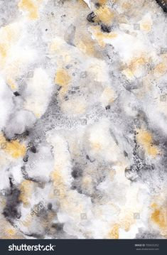 Grey, gold and black colors watercolor hand painted illustration. Abstract background. Hand made design for decorative paper.