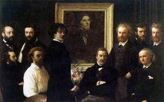 """Henri Fantin LaTour """"Homage to Delacroix"""" 1864 (Museum D'Orsay, Paris) This…"""